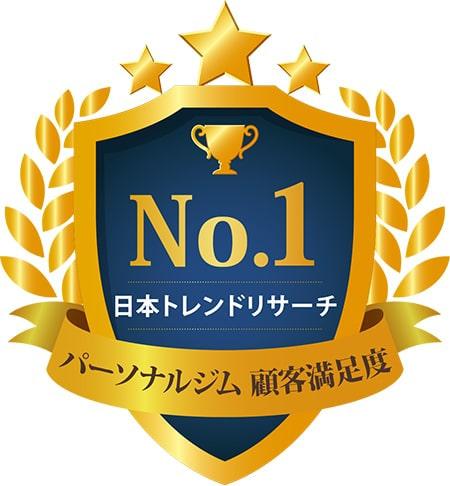 No.1 日本トレンドリサーチ パーソナルジム 顧客満足度